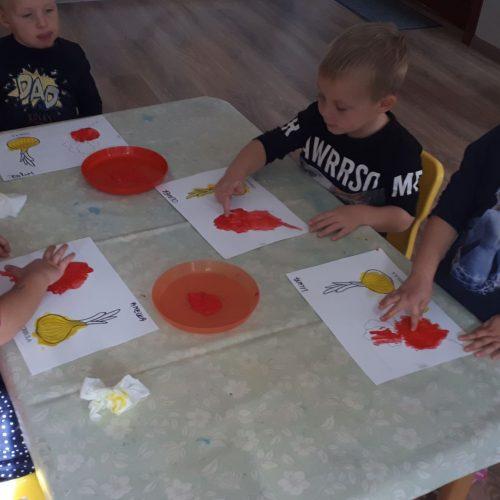 Malowane warzywa.