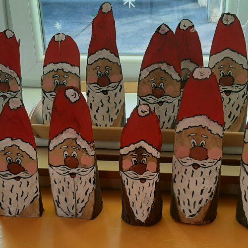 Mikołaje na drewnie malowane - Koszałki Opałki