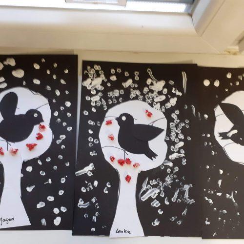Ptaki zimą - Leśne Ludki