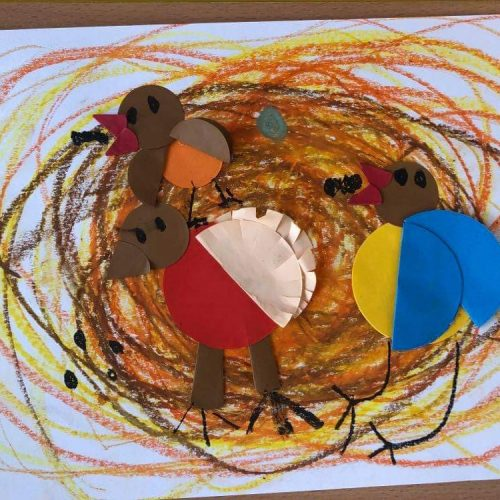 Ptaki w gniazdku- Koszałki Opałki